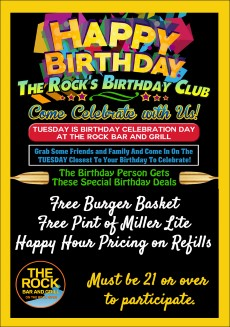 Birthday Tuesday @ The Rock Bar and Grill | Beloit | Wisconsin | United States